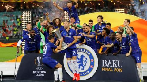 Hazard's Brace Hand Chelsea Europa League Trophy Against Arsenal