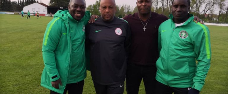 Yakubu Ayegbeni Visits Flying Eagles In Germany Camp