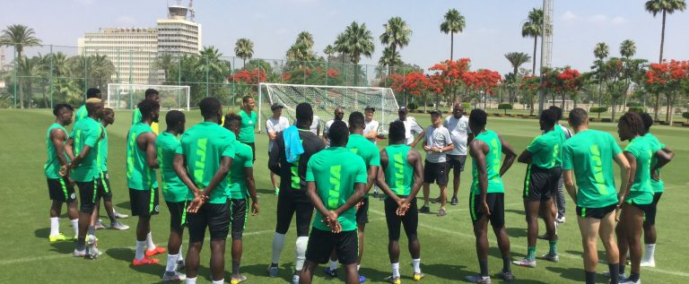 Nigeria V Guinea: Super Eagles Boycott Press Briefing, Training