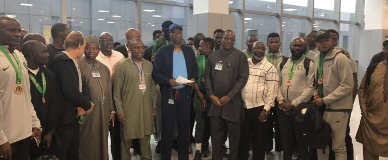 FG Welcomes Bronze-winning Super Eagles In Abuja