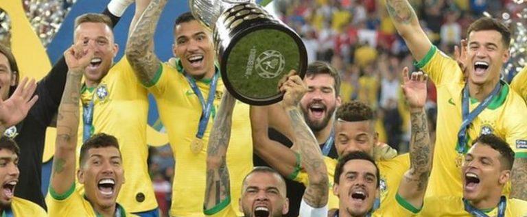 Jesus Scores, Sent Off As Brazil Wins Copa Amaerica