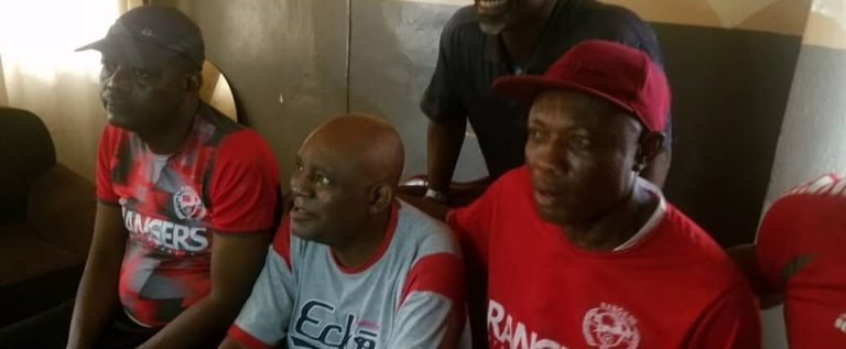 Rangers Pay Visit To Former Coach Chukwu