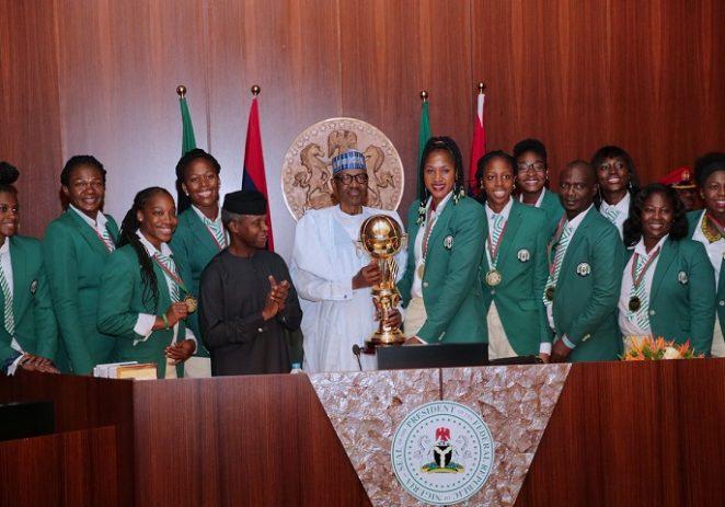 President Buhari Hails D'Tigress For Retaining Afrobasket Title