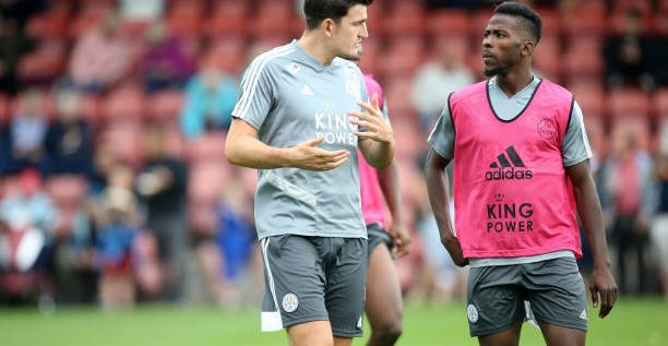 Iheanacho Accuses Maguire Of 'Stealing' His Slippers