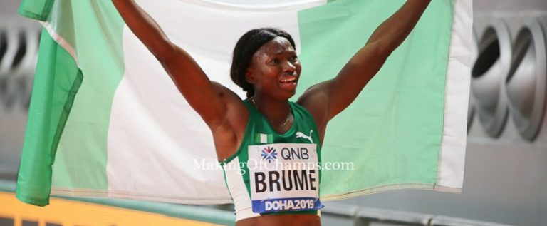Ese Brume Finishes Second In Doha Diamond League