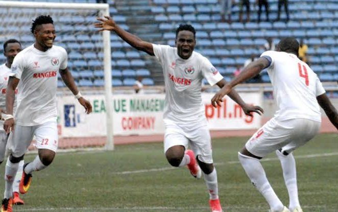 10-Man Rangers Pick First Away Win, Defeat Wolves In Warri