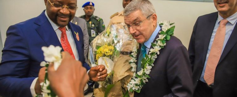 International Olympics Committee President arrives Nigeria On Two-day Official Visit