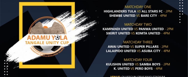 Highlander Tula And All Stars Fc To Kick Start The Adamu Yola Tangale Unity Cup Knockout Stage