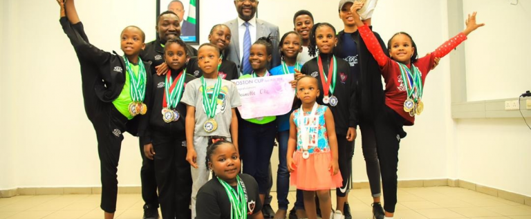 Sports Minister Applauds TIG On Discovering Young Gymnasts