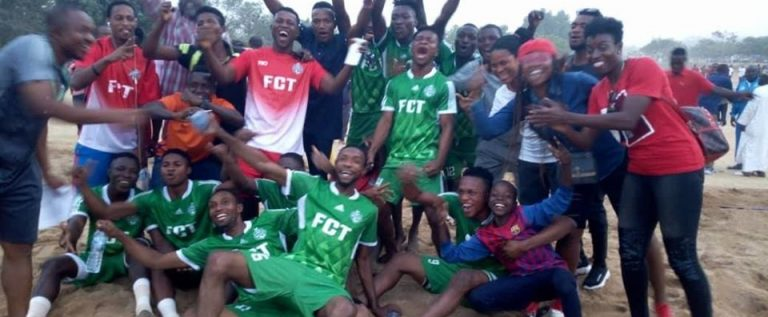 FCT Team Battles Kebbi In Abuja Beach Soccer Final Today