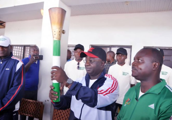 Nasawara Governor, Sule Receives NSF Torch Of Unity, Assures Of Good Representation