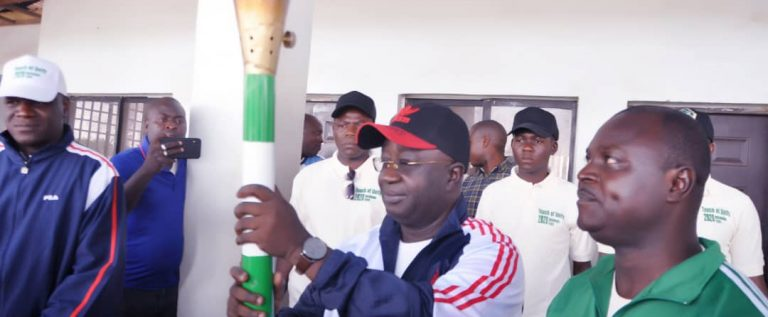 Nasawara Governor, Sule Receives NSF Torch Of Unity, Assures Of Good Representation