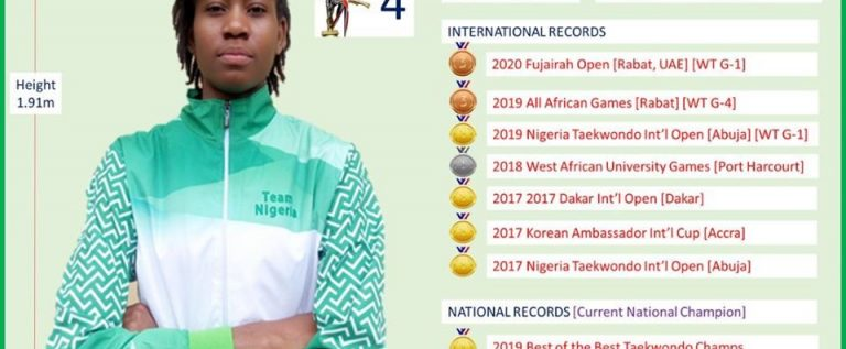 Elizabeth Anyanacho: The Last Woman Standing As Nigeria Taekwondo Heads To Tokyo 2020 Olympics