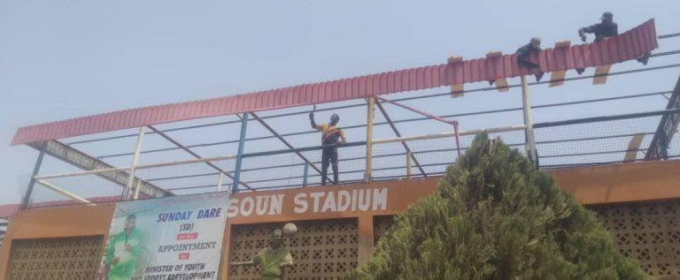 Crown FC Appreciates Sunday Dare for  Repairing, Re-roofing of Stadium Pavilion