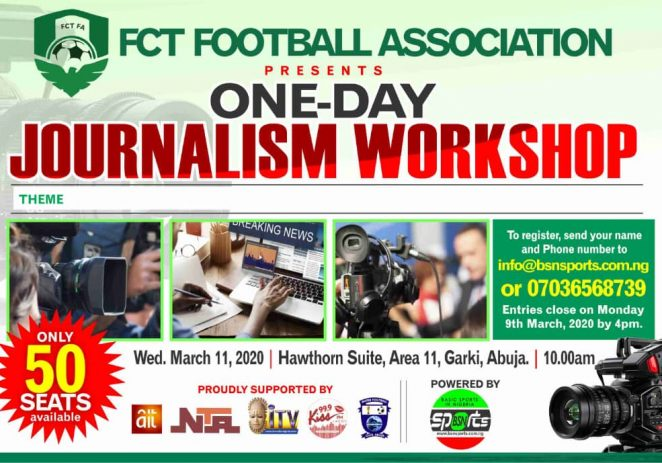 FCT FA Partners BSN Sports For Journalists' Training In Abuja