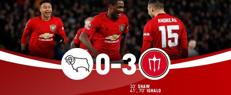 Ighalo's Double Seals Manchester United FA Cup Quarter-final Berth