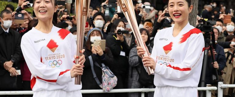 Tokyo 2020 Olympic Torch Lighting Ceremony Holds Without Spectators