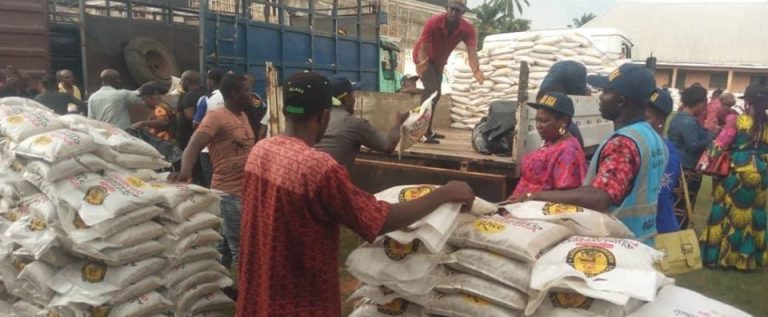 Goddosky FC Boss Distributes 70, 000 10kg Bags Of Rice, Other Items To 18 LGAs In Anambra