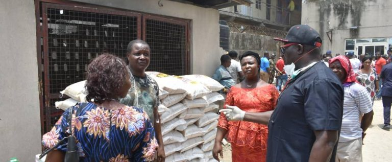 Goddosky FC Chairman Donates Thousands Of Food Materials  To Fight Coronavirus