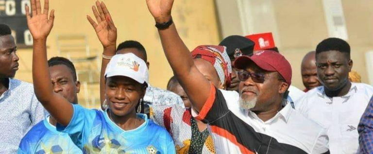Kwara United Felicitate With Commissioner For Sports Joana Kolo On Birthday
