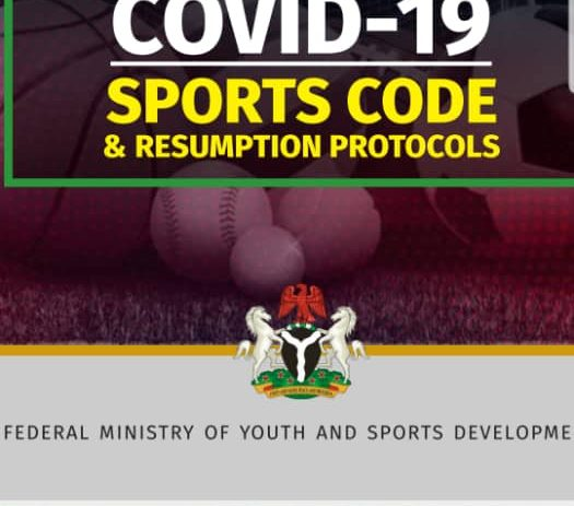 Sports Ministry Submits COVID-19 Sports Code, Resumption Protocol to NASS, PTF