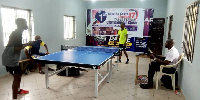 Bayelsa State Table Tennis Association Vice Chairman Donates Table Tennis Boards