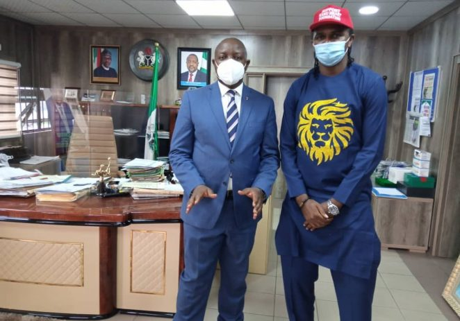 Former Africa Footballer Of The Year Pays Unplanned Visit To Sports Minister
