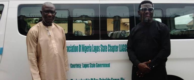 Lagos Governor, Sanwo-Olu Gifts SWAN 18-seater Bus