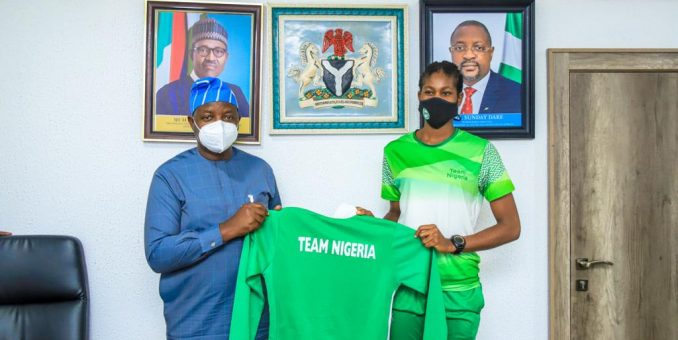 Minister Of Sports Receives Olympic-bound Anyanacho