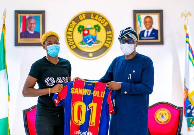 Lagos Governor Sanwo-olu Promises To Support Asisat Oshoala Foundation