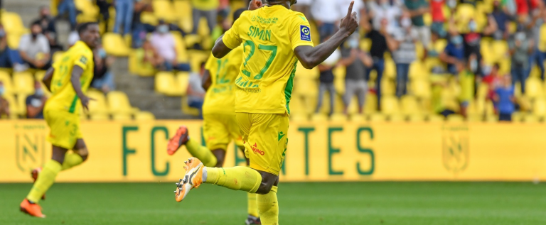 Moses Simon Opens His Goal Account in the French League
