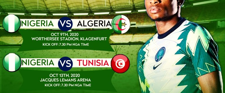 Kick-off Time, Dates, Venues  Of Nigeria Friendlies Confirmed