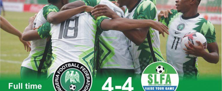 FIFA, CAF, React To Nigeria's 4-4 Draw Against Sierra Leone