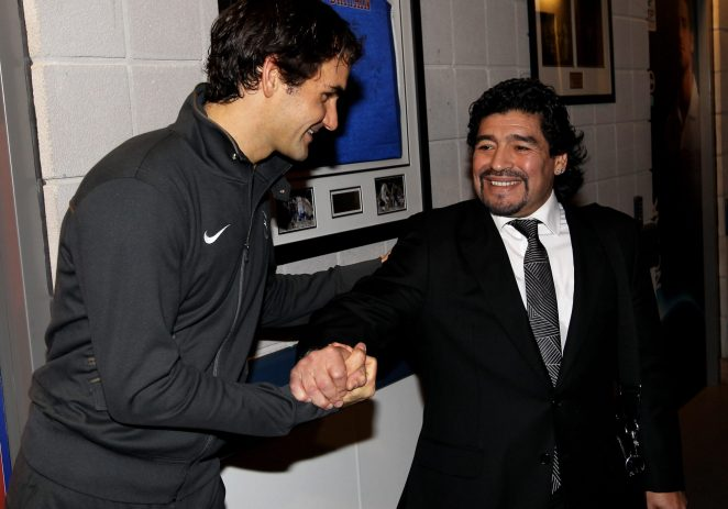 Tennis Greats, Nadal, Federer Others Paying Last Respect To Maradona