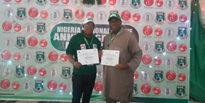 NNL Boss Congratulates Commends COO; Congratulates Akujobi On CAF Security Personnel Certification