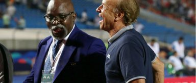 """Amaju Pinnick """"Justifies"""" Why Rohr Cannot Live In Nigeria Despite His Contract"""