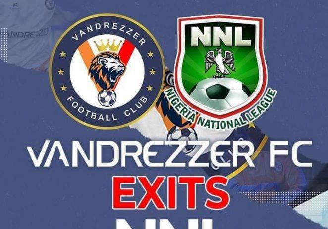 Vandrrezzer FC Pull Out Of Nigeria National League 2020/2021 Season