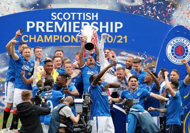 Super Eagles' Aribo, Balogun Celebrate As Invincible Rangers Lift Scottish Premier League Crown