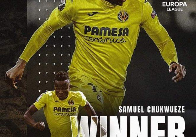 Samuel Chukwueze Wins UEFA Europa League After Defeating Manchester United
