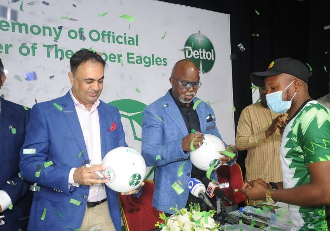Dettol Becomes Hygiene Partner Of The Super Eagles For AFCON, World Cup