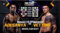 Adesanya Optimistic Of Victory Against Vettori In UFC Fight
