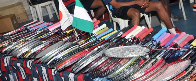 Japanese Ambassador Presents 80 Badminton Rackets To Nigeria Federation