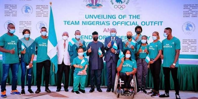 Tokyo 2020: Buhari Unveils Team Nigeria's Official Outfit, Wants repeat of 1996, 2000 Feats