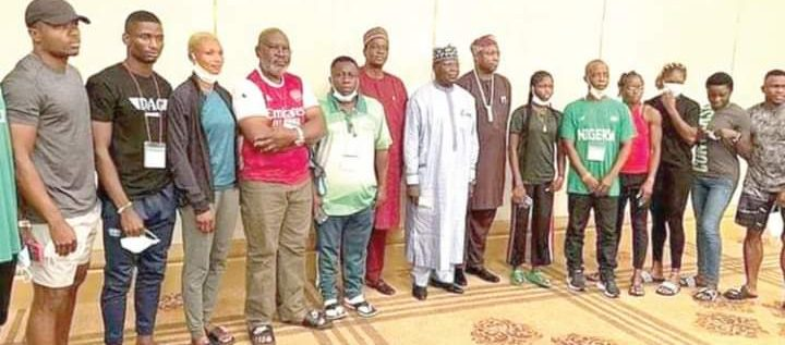 NATIONAL SHAME: Nigeria Olympic Contingents Arrive Tokyo In Arsenal Jersey