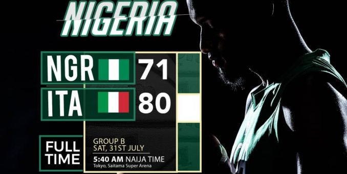 BREAKING NEWS: D'Tigers Crash Out Of 2020 Olympics Basketball After Italy Defeat