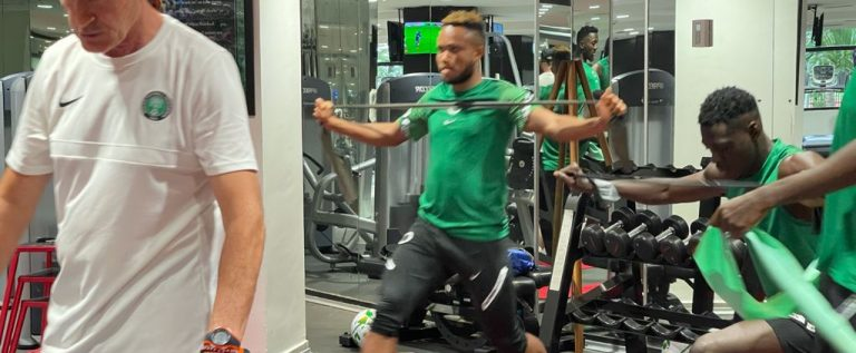 CONFUSION: Super Eagles Players Thrown Out Of Gym Centre In Camp