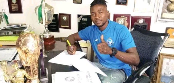 Enyimba FC  Sign Defender Abel James Ahead Of New NPFL Season