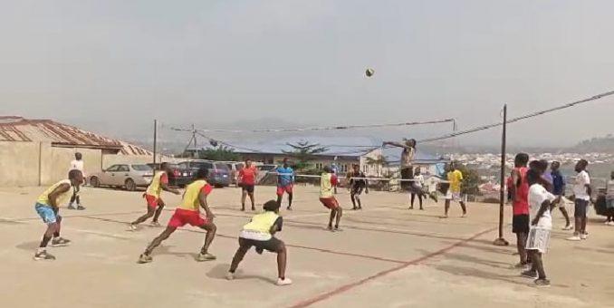 CKC Kubwa Battles Church Of Annuciation  In Catholic Church Volleyball Championship