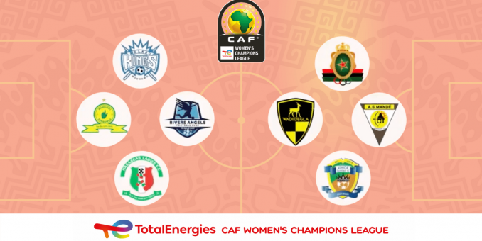 CAF Names Rivers Angels, 7 Others For Women's Champions League